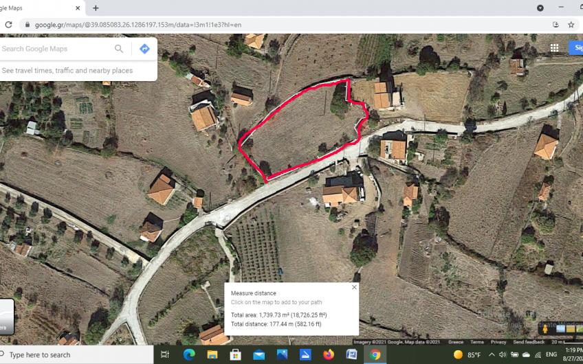Double building plot for sale Nyfida